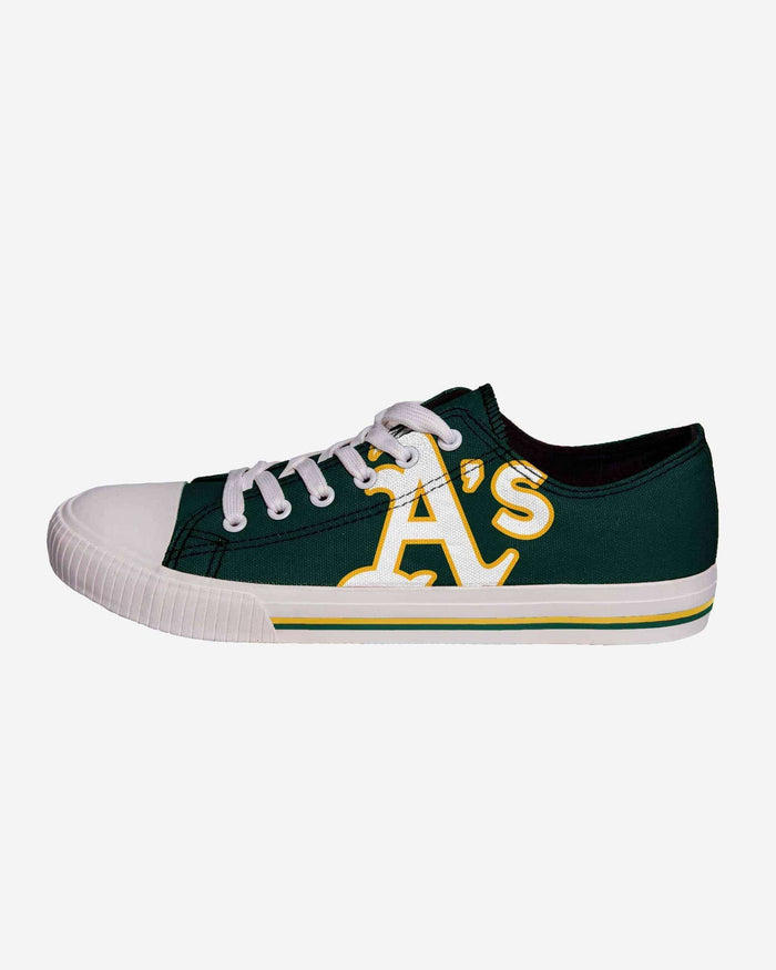 210a3a5b0a72e Oakland Athletics Mens Low Top Big Logo Canvas Shoe FOCO.com