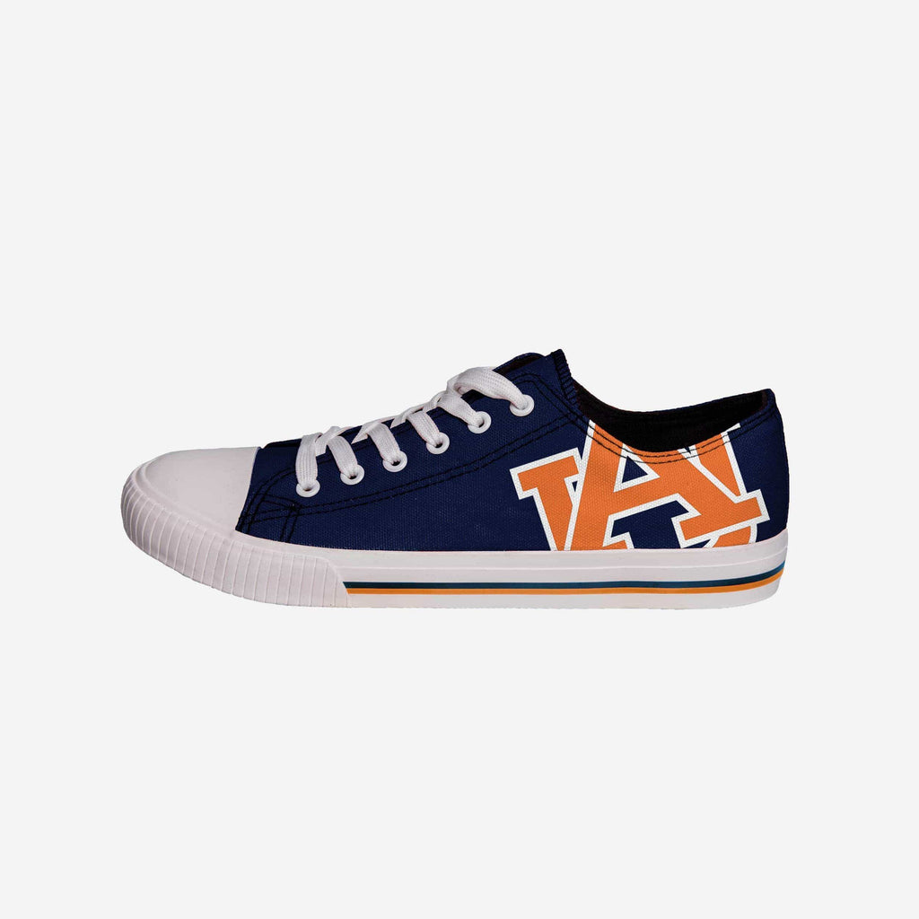 Auburn Tigers Mens Low Top Big Logo Canvas Shoe FOCO - FOCO.com