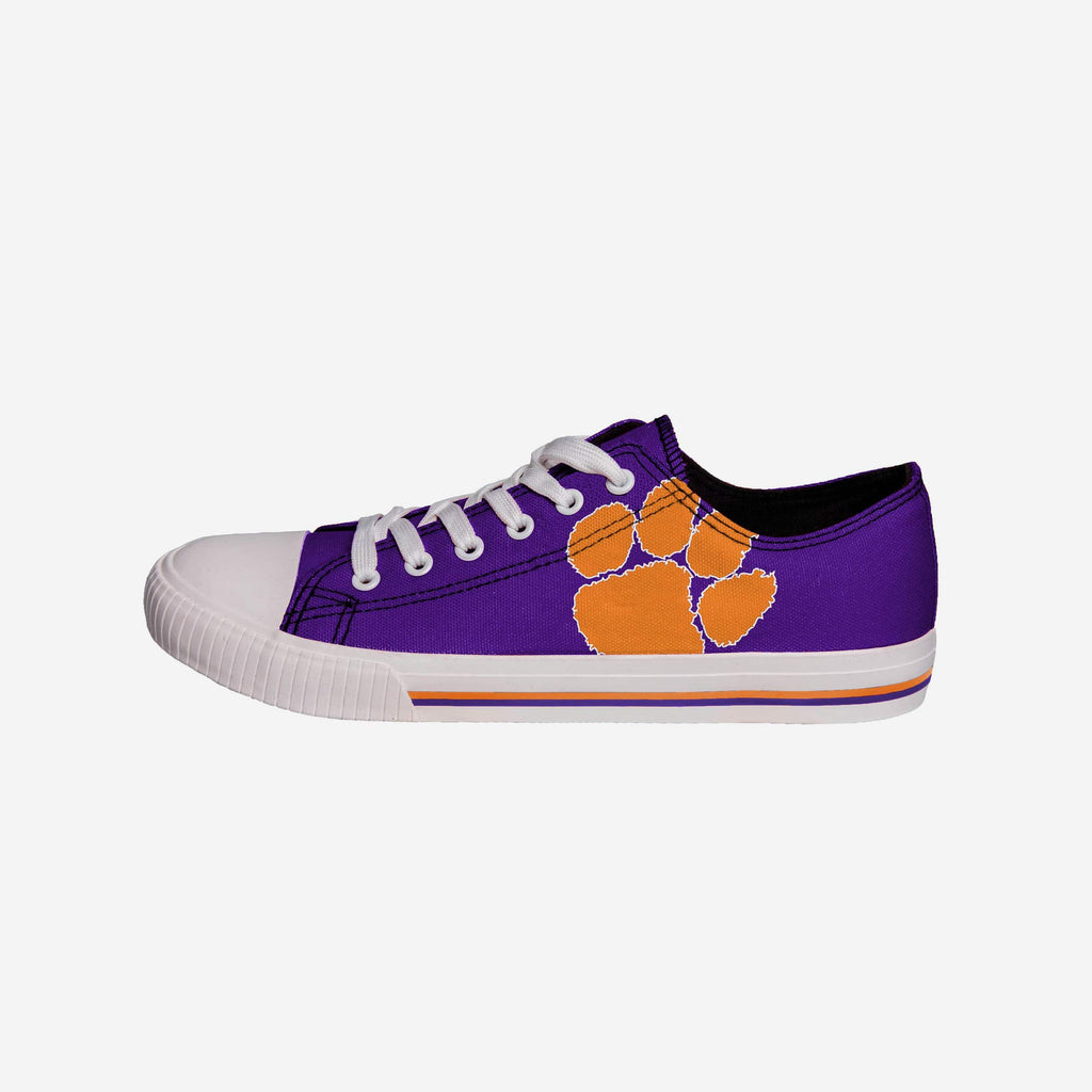 Clemson Tigers Mens Low Top Big Logo Canvas Shoe FOCO - FOCO.com