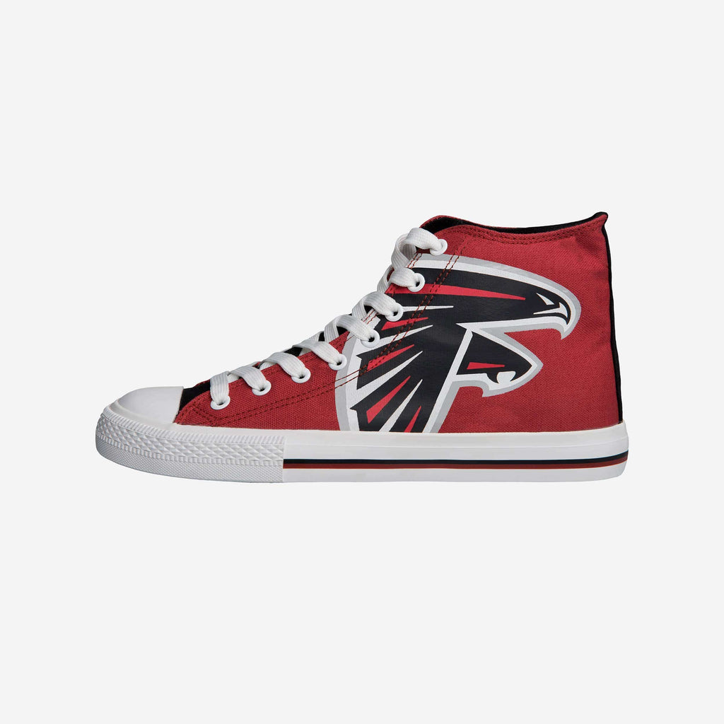 Atlanta Falcons High Top Big Logo Canvas Shoe