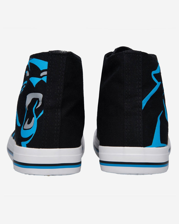 Carolina Panthers Mens High Top Big Logo Canvas Shoe FOCO - FOCO.com
