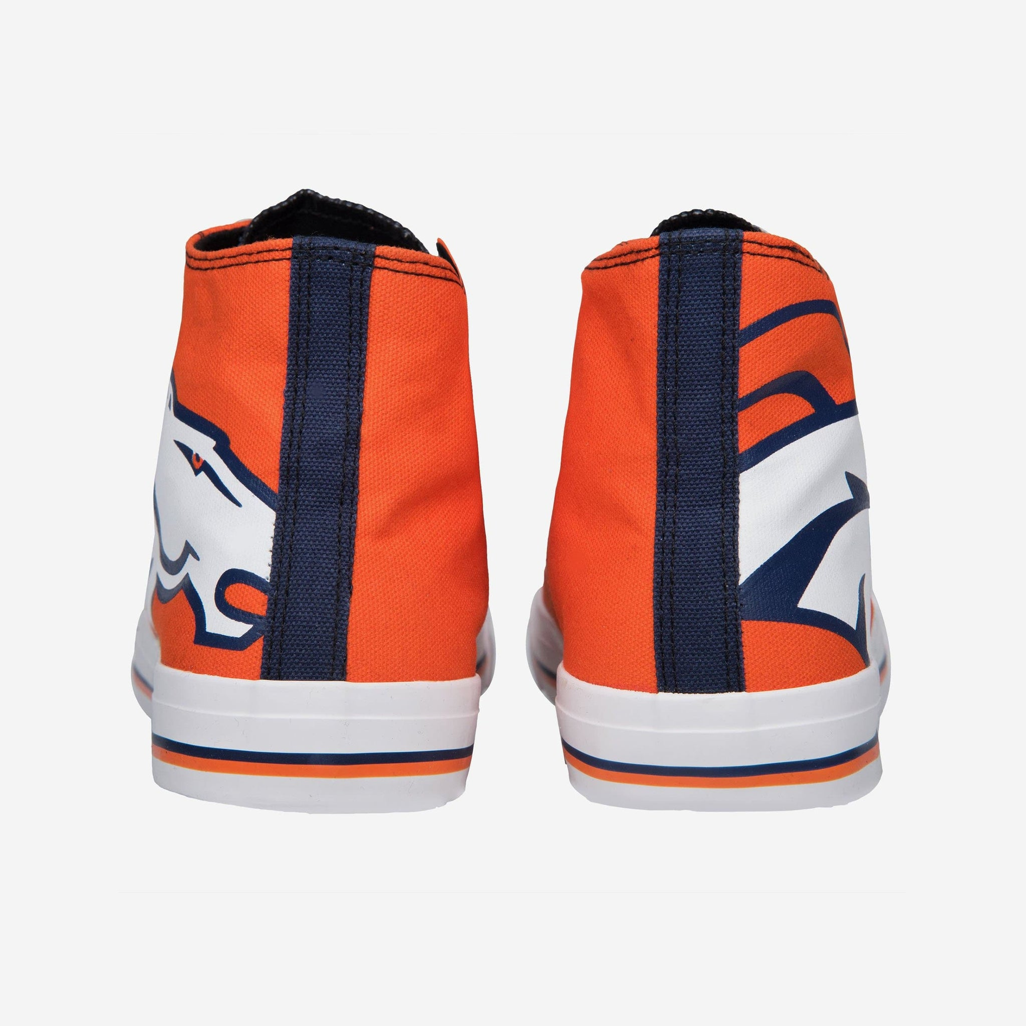 Denver Broncos Mens High Top Big Logo Canvas Shoe FOCO - FOCO.com
