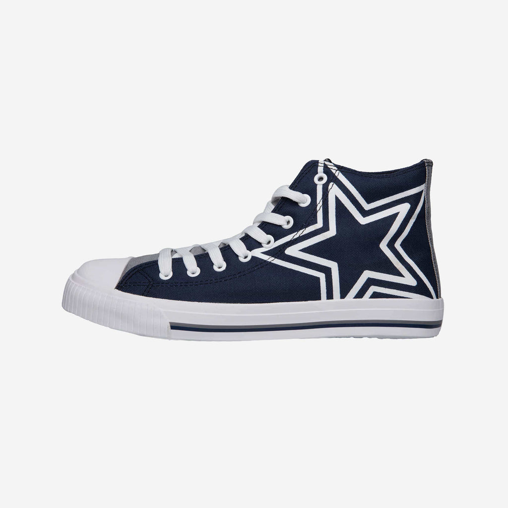 Dallas Cowboys Mens High Top Big Logo Canvas Shoe