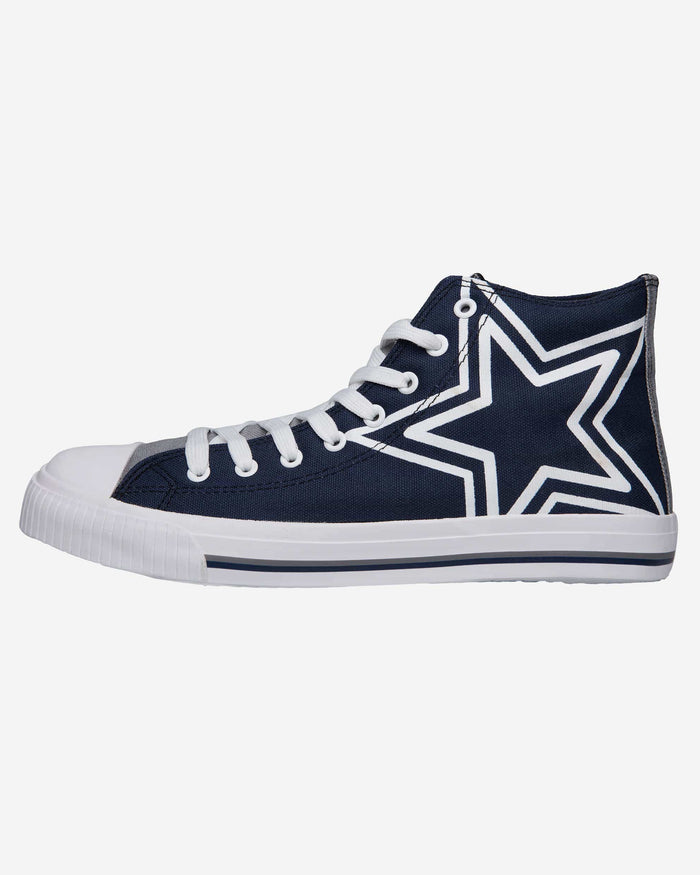 Dallas Cowboys Mens High Top Big Logo Canvas Shoe FOCO - FOCO.com