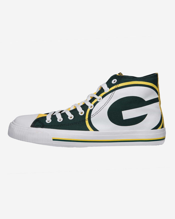 Green Bay Packers Mens High Top Big Logo Canvas Shoe FOCO - FOCO.com