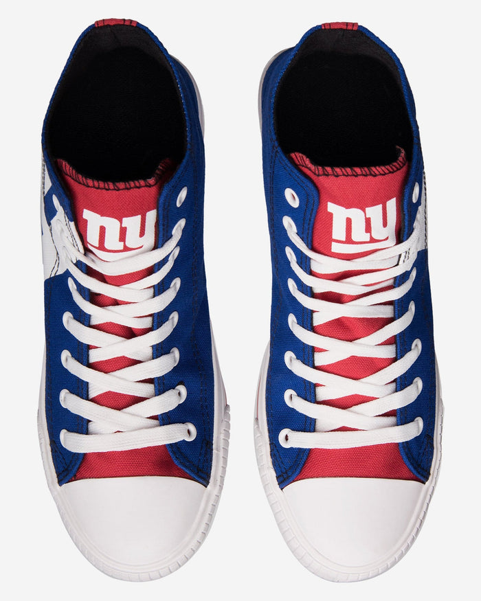 New York Giants Mens High Top Big Logo Canvas Shoe FOCO - FOCO.com