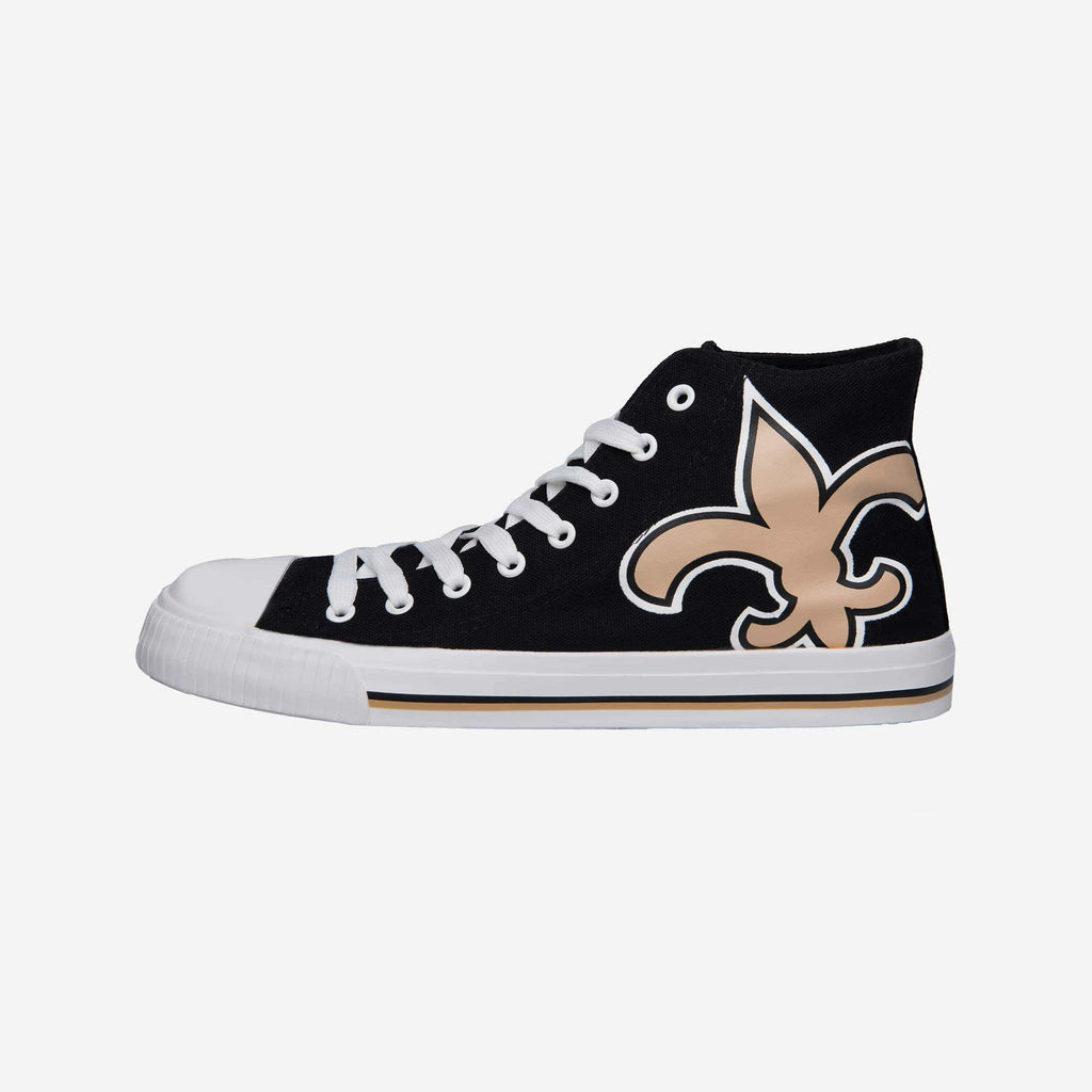 New Orleans Saints Mens High Top Big Logo Canvas Shoe FOCO - FOCO.com