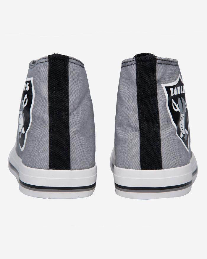Oakland Raiders Mens High Top Big Logo Canvas Shoe