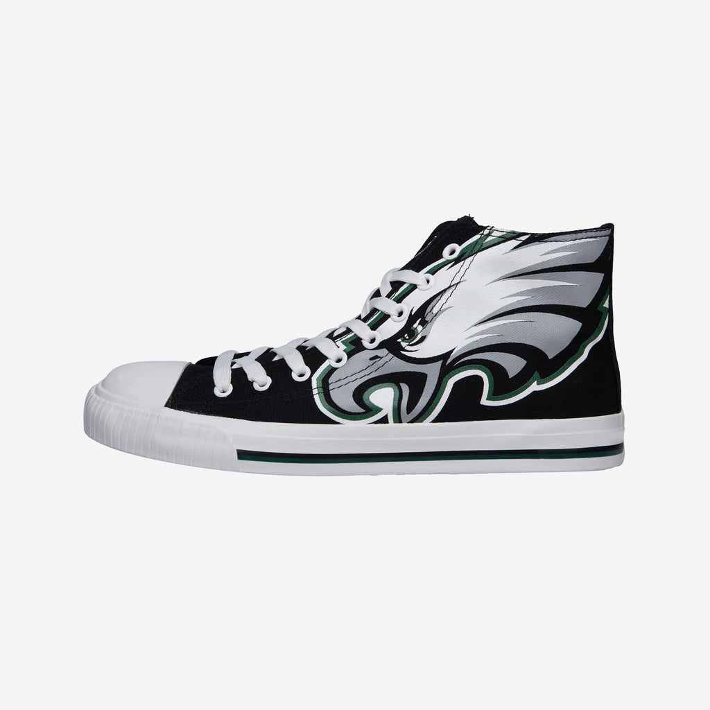 Philadelphia Eagles Mens High Top Big Logo Canvas Shoe FOCO - FOCO.com