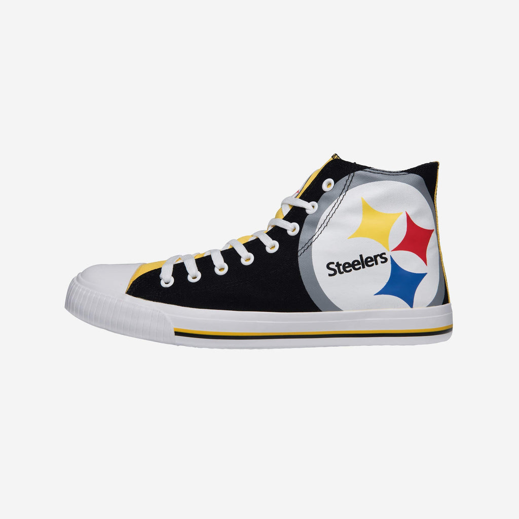 Pittsburgh Steelers Mens High Top Big Logo Canvas Shoe