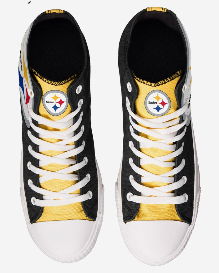 Pittsburgh Steelers Mens High Top Big Logo Canvas Shoe FOCO - FOCO.com