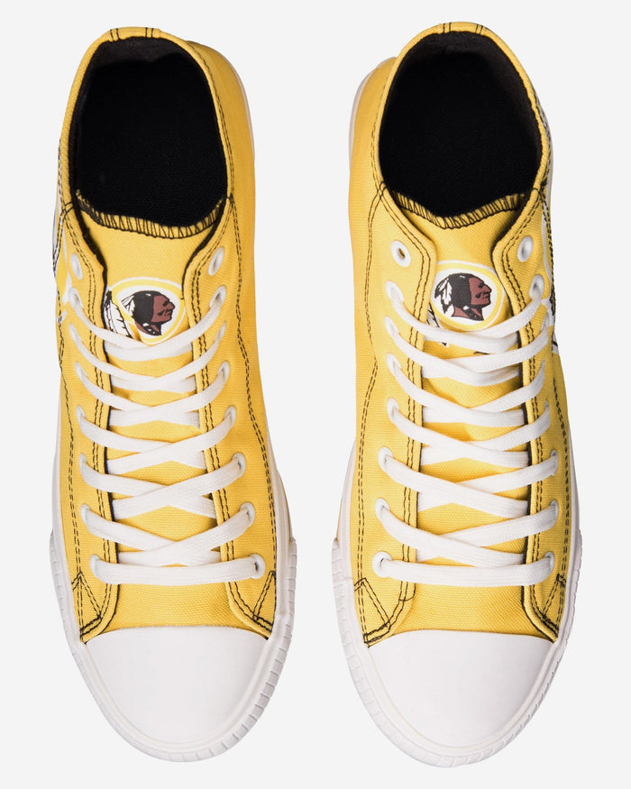 Washington Redskins Mens High Top Big Logo Canvas Shoe FOCO - FOCO.com