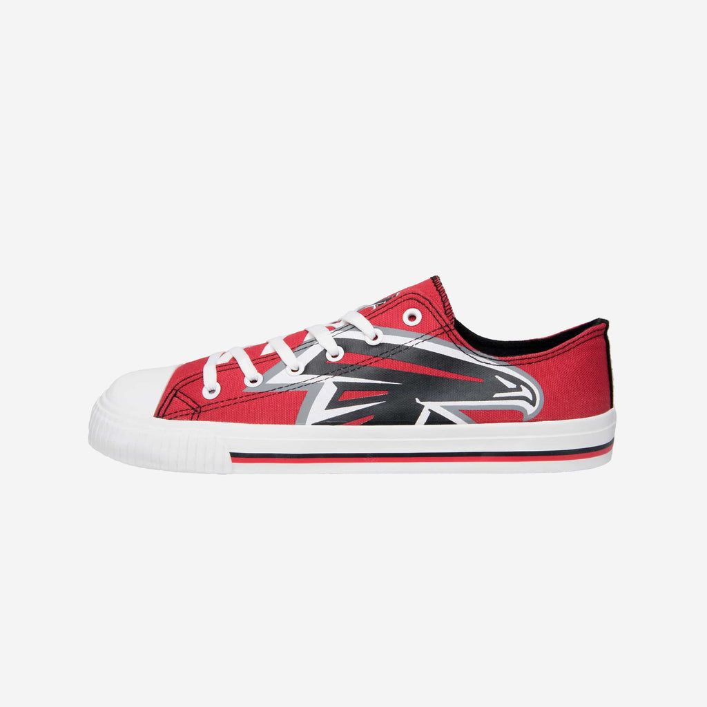 Atlanta Falcons Mens Low Top Big Logo Canvas Shoe FOCO - FOCO.com
