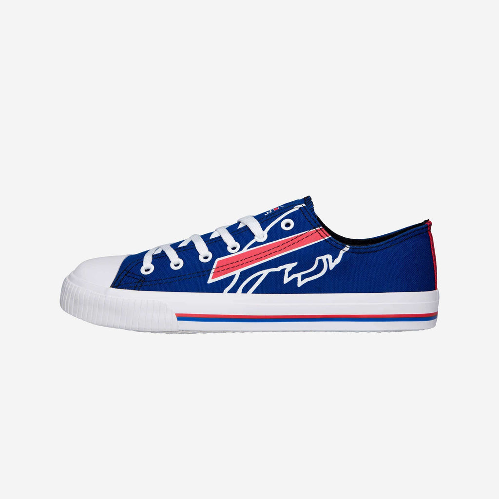 Buffalo Bills Mens Low Top Big Logo Canvas Shoe