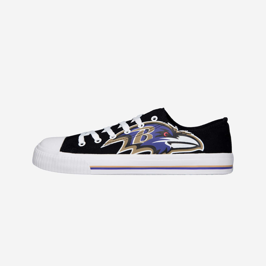 Baltimore Ravens Mens Low Top Big Logo Canvas Shoe