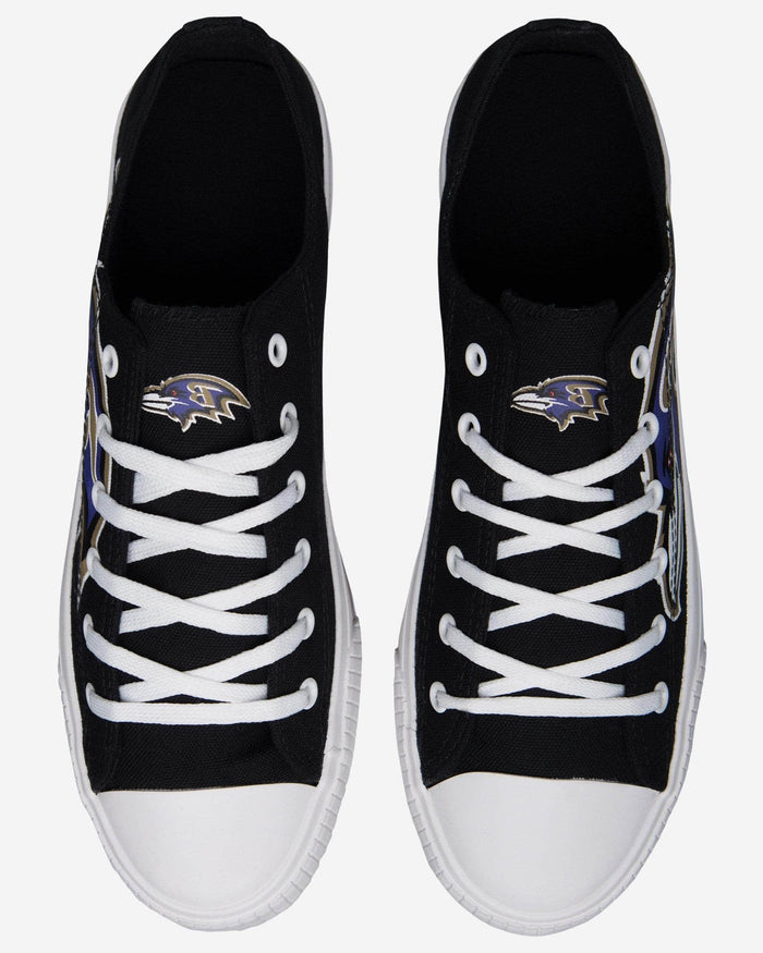 Baltimore Ravens Mens Low Top Big Logo Canvas Shoe FOCO - FOCO.com