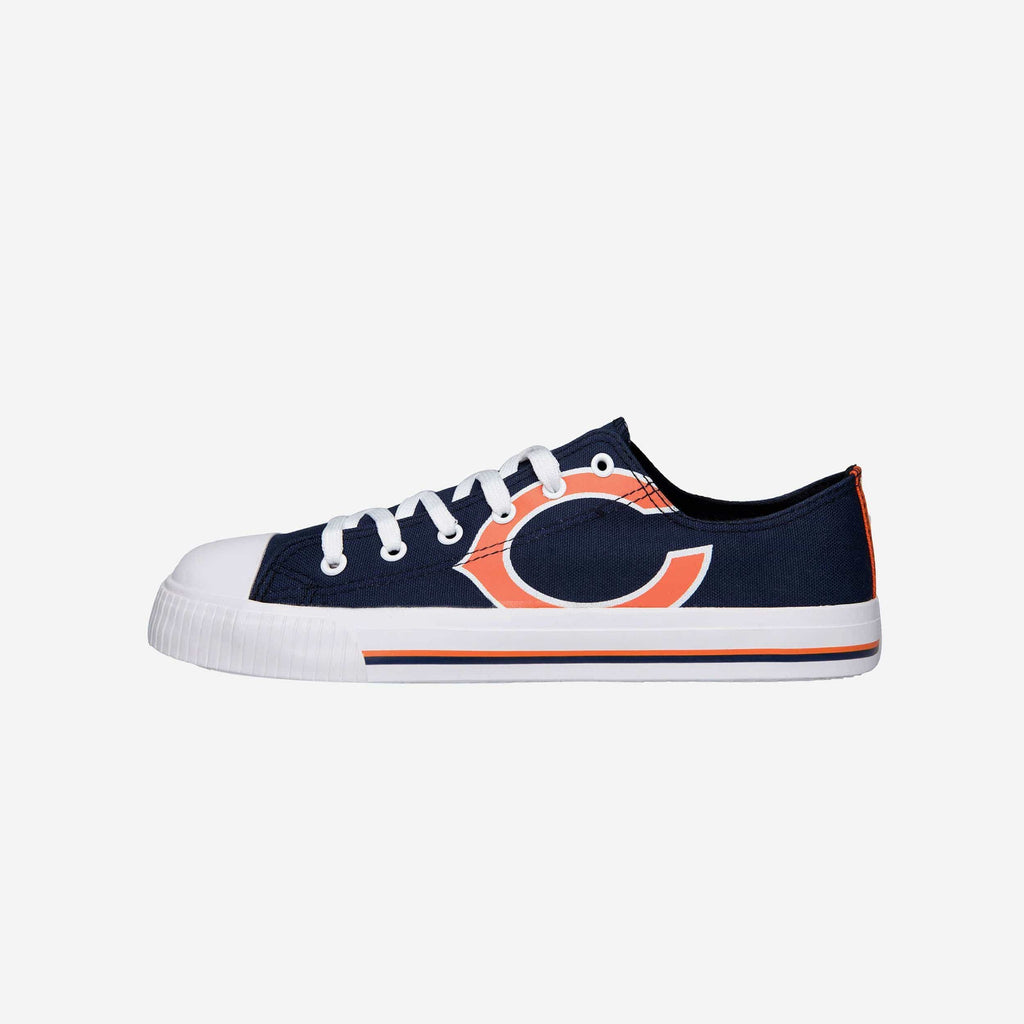 Chicago Bears Mens Low Top Big Logo Canvas Shoe