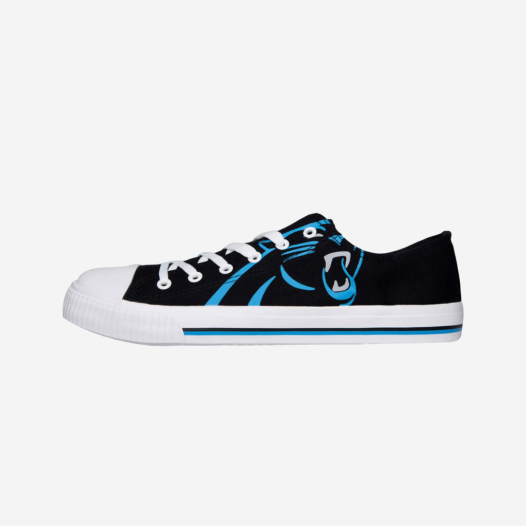 Carolina Panthers Mens Low Top Big Logo Canvas Shoe FOCO - FOCO.com