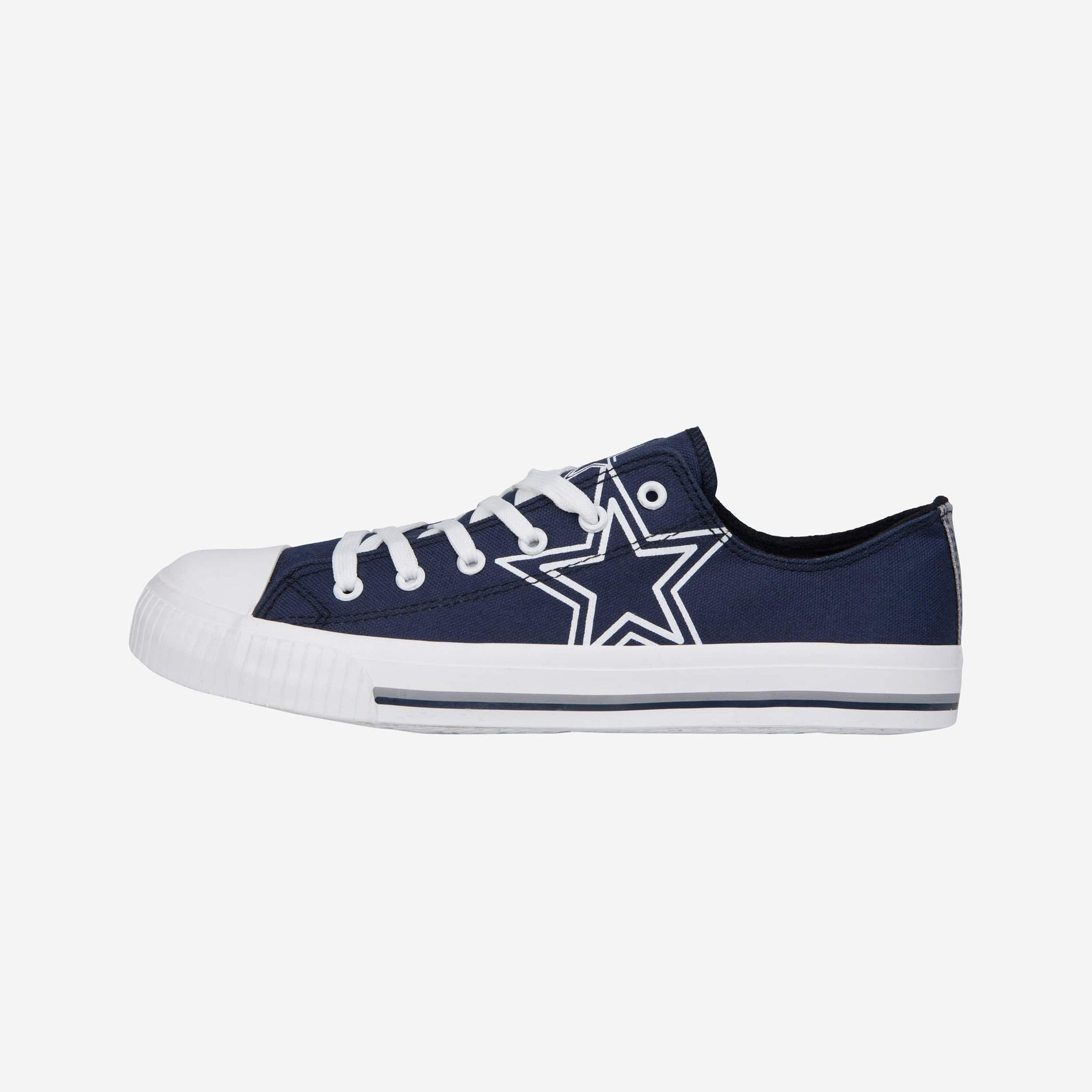00b5b481653 Dallas Cowboys Mens Low Top Big Logo Canvas Shoe FOCO - FOCO.com