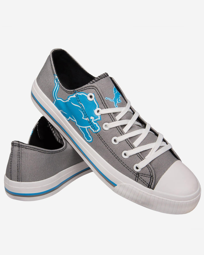 Detroit Lions Mens Low Top Big Logo Canvas Shoe FOCO - FOCO.com