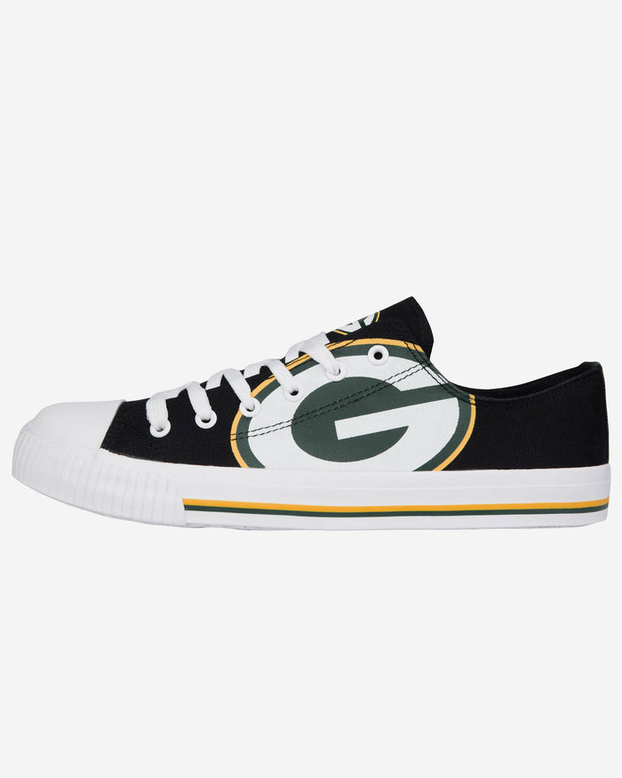 Green Bay Packers Mens Low Top Big Logo Canvas Shoe FOCO - FOCO.com
