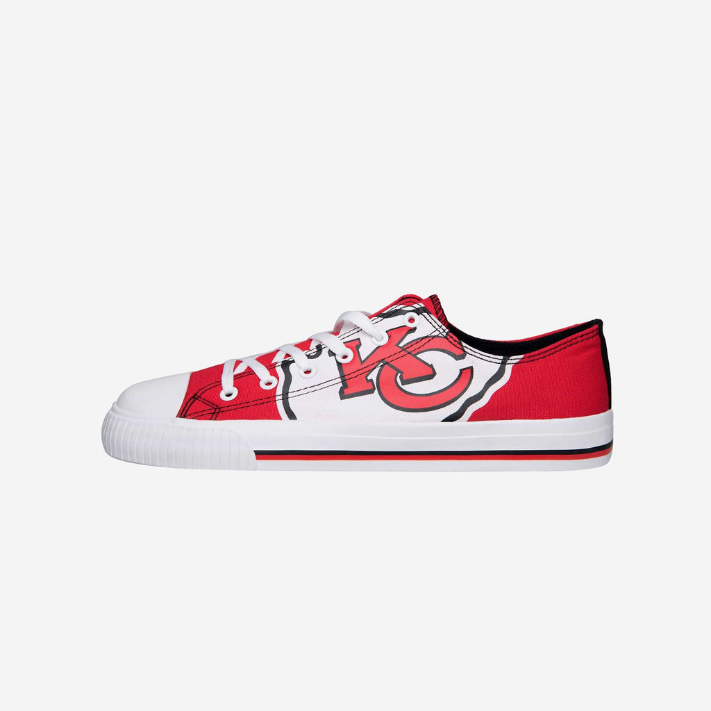 Kansas City Chiefs Mens Low Top Big Logo Canvas Shoe FOCO - FOCO.com