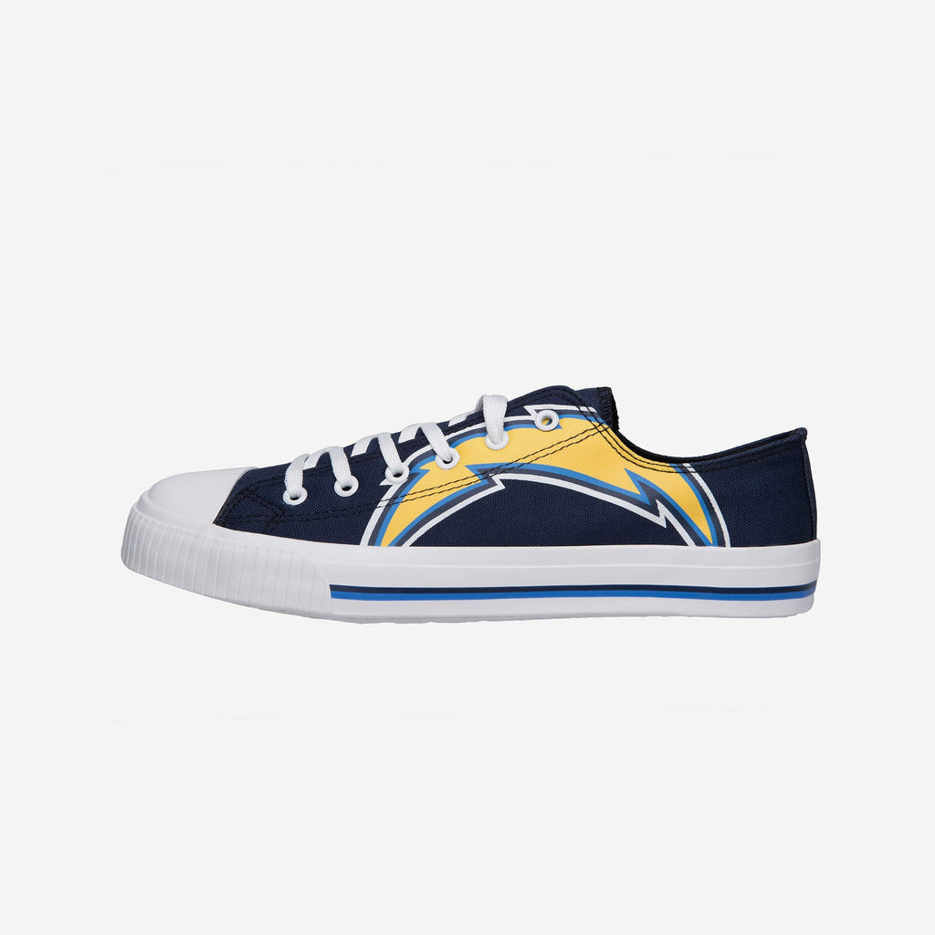 Los Angeles Chargers Mens Low Top Big Logo Canvas Shoe