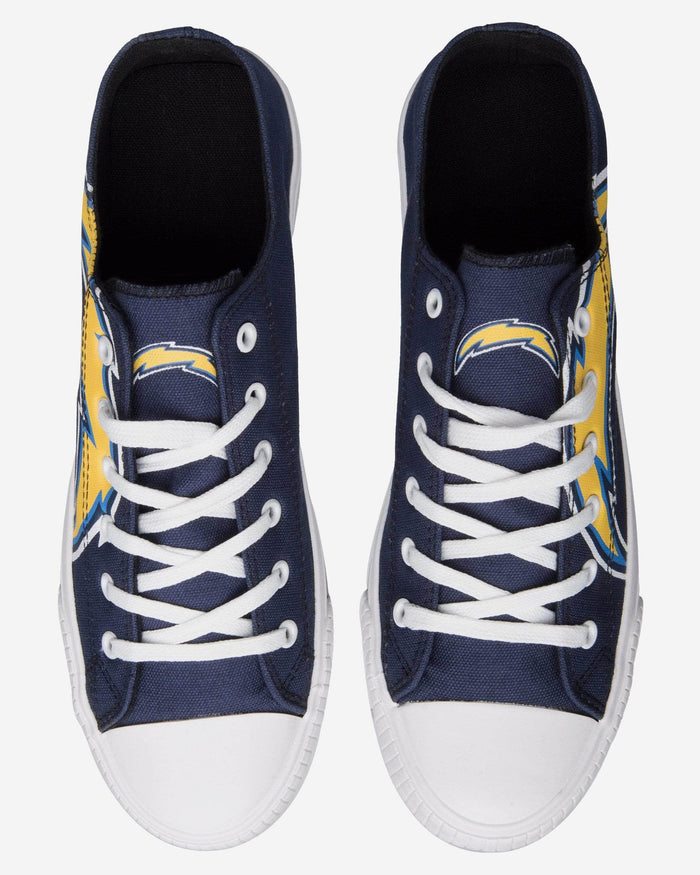 Los Angeles Chargers Mens Low Top Big Logo Canvas Shoe FOCO - FOCO.com