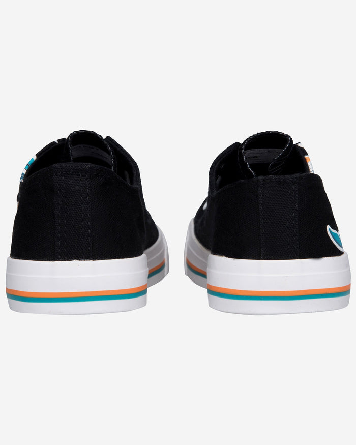 Miami Dolphins Mens Low Top Big Logo Canvas Shoe FOCO - FOCO.com