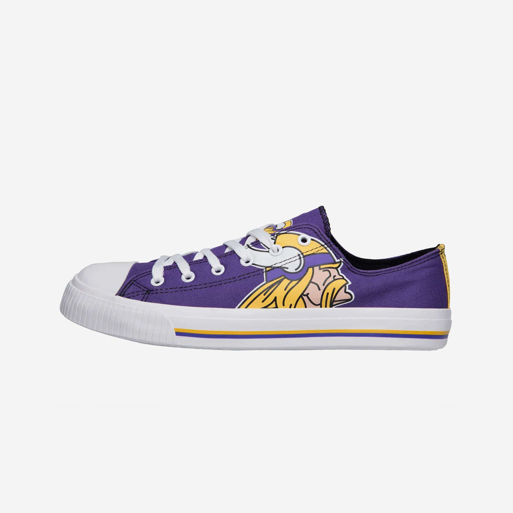 Minnesota Vikings Mens Low Top Big Logo Canvas Shoe FOCO - FOCO.com