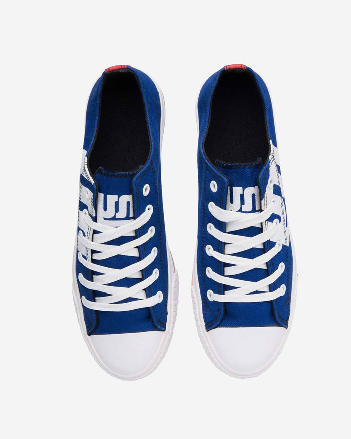 New York Giants Mens Low Top Big Logo Canvas Shoe FOCO - FOCO.com