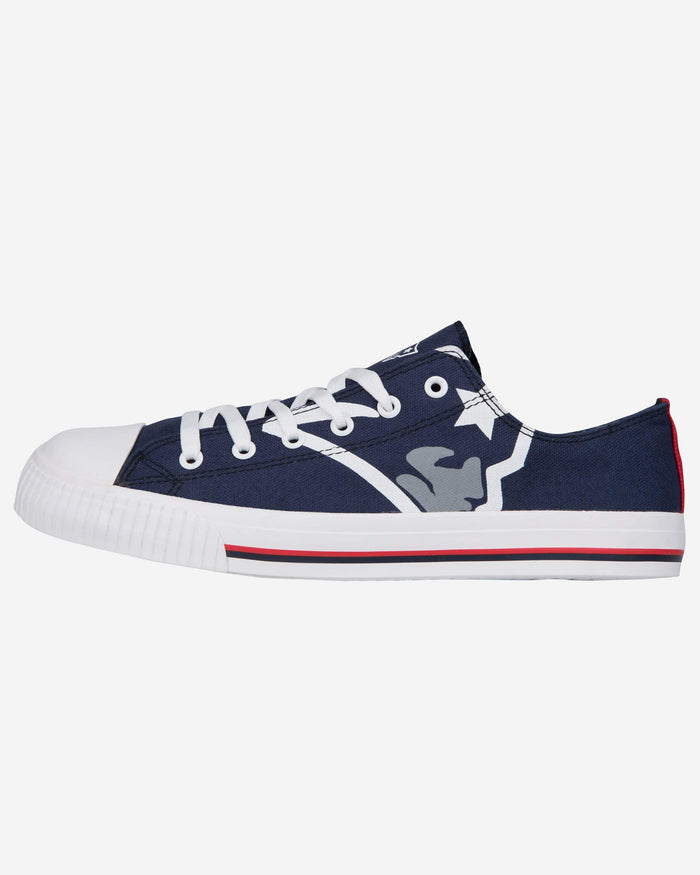 New England Patriots Mens Low Top Big Logo Canvas Shoe FOCO - FOCO.com