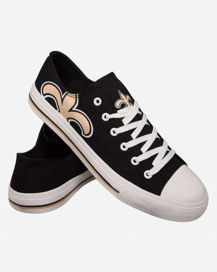 New Orleans Saints Mens Low Top Big Logo Canvas Shoe FOCO - FOCO.com