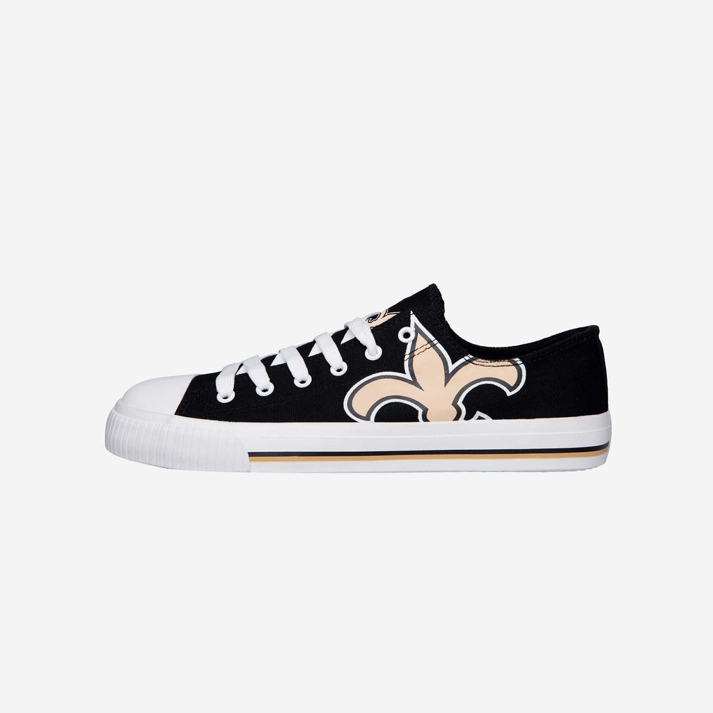 New Orleans Saints Mens Low Top Big Logo Canvas Shoe