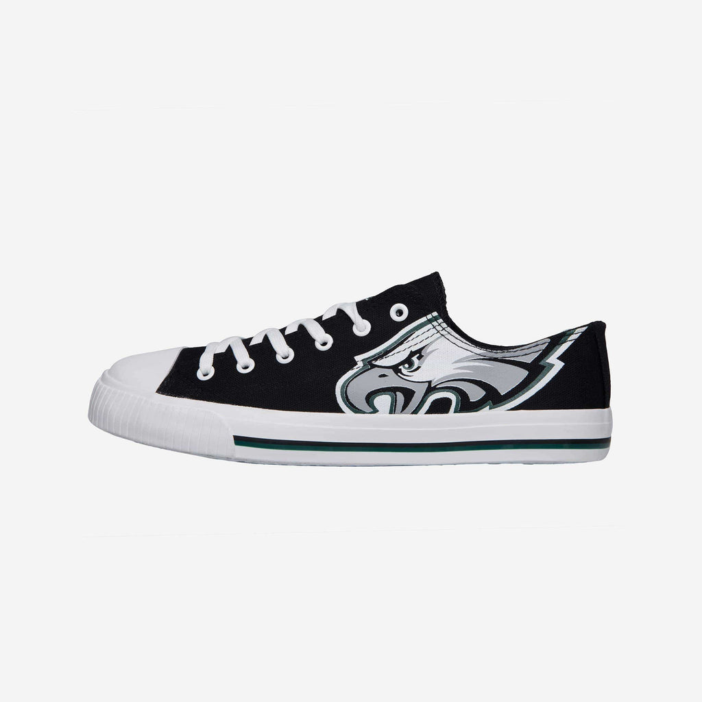 Philadelphia Eagles Mens Low Top Big Logo Canvas Shoe