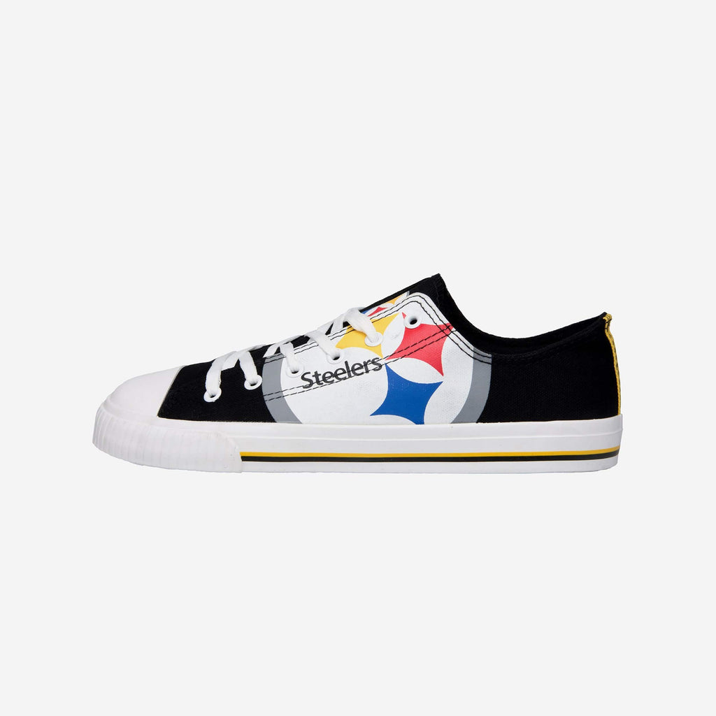 Pittsburgh Steelers Mens Low Top Big Logo Canvas Shoe FOCO - FOCO.com
