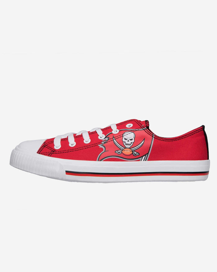 Tampa Bay Buccaneers Mens Low Top Big Logo Canvas Shoe FOCO - FOCO.com