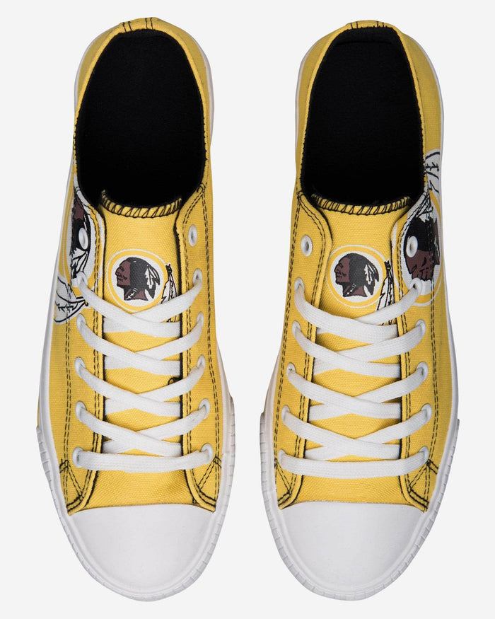 Washington Redskins Mens Low Top Big Logo Canvas Shoe FOCO - FOCO.com