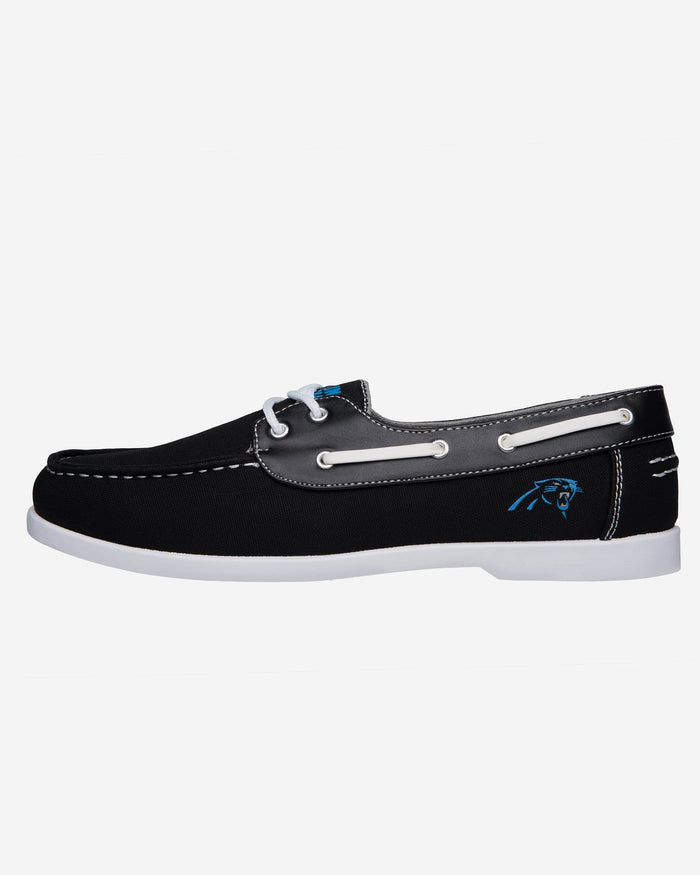 Carolina Panthers Mens Side Logo Canvas Shoe FOCO - FOCO.com