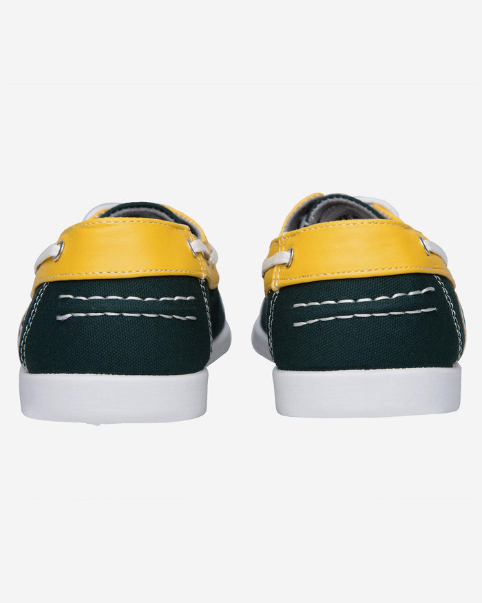 Green Bay Packers Mens Side Logo Canvas Shoe FOCO - FOCO.com