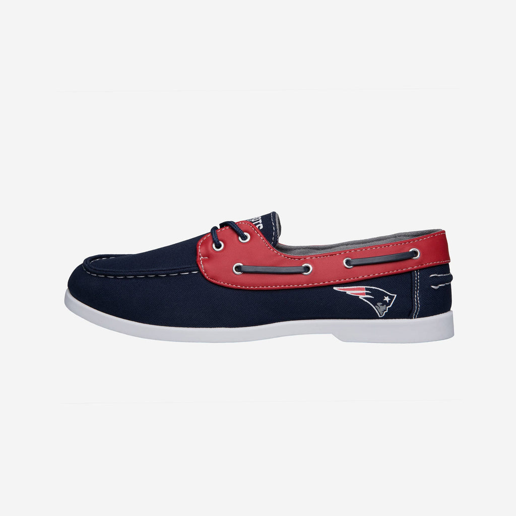 New England Patriots Mens Side Logo Canvas Shoe FOCO - FOCO.com