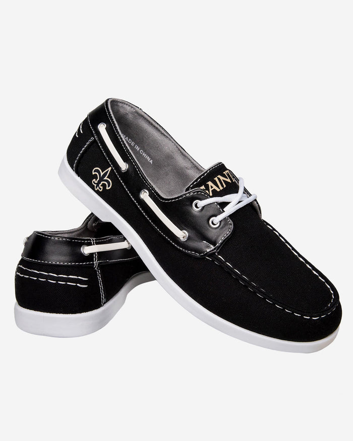 New Orleans Saints Mens Side Logo Canvas Shoe FOCO - FOCO.com