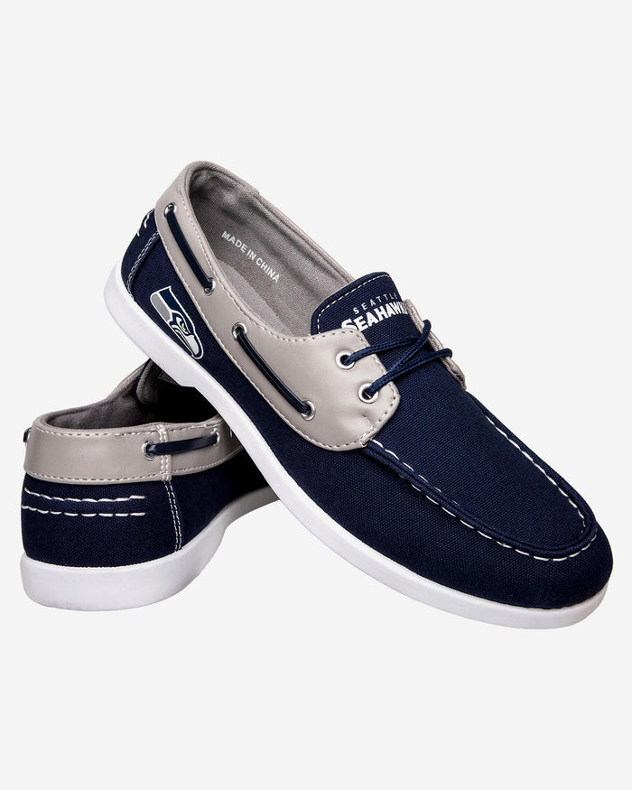Seattle Seahawks Mens Side Logo Canvas Shoe FOCO - FOCO.com