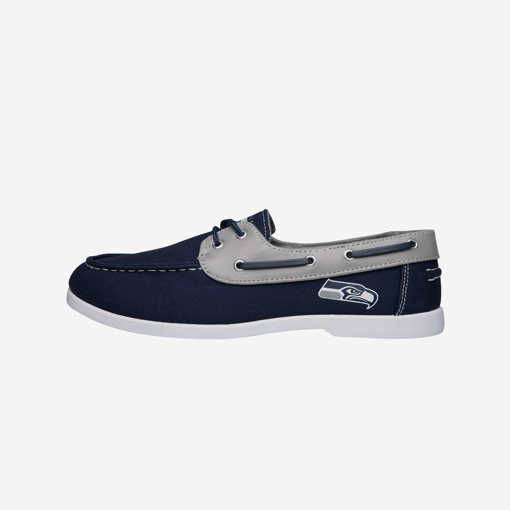 Seattle Seahawks Mens Side Logo Canvas Shoe