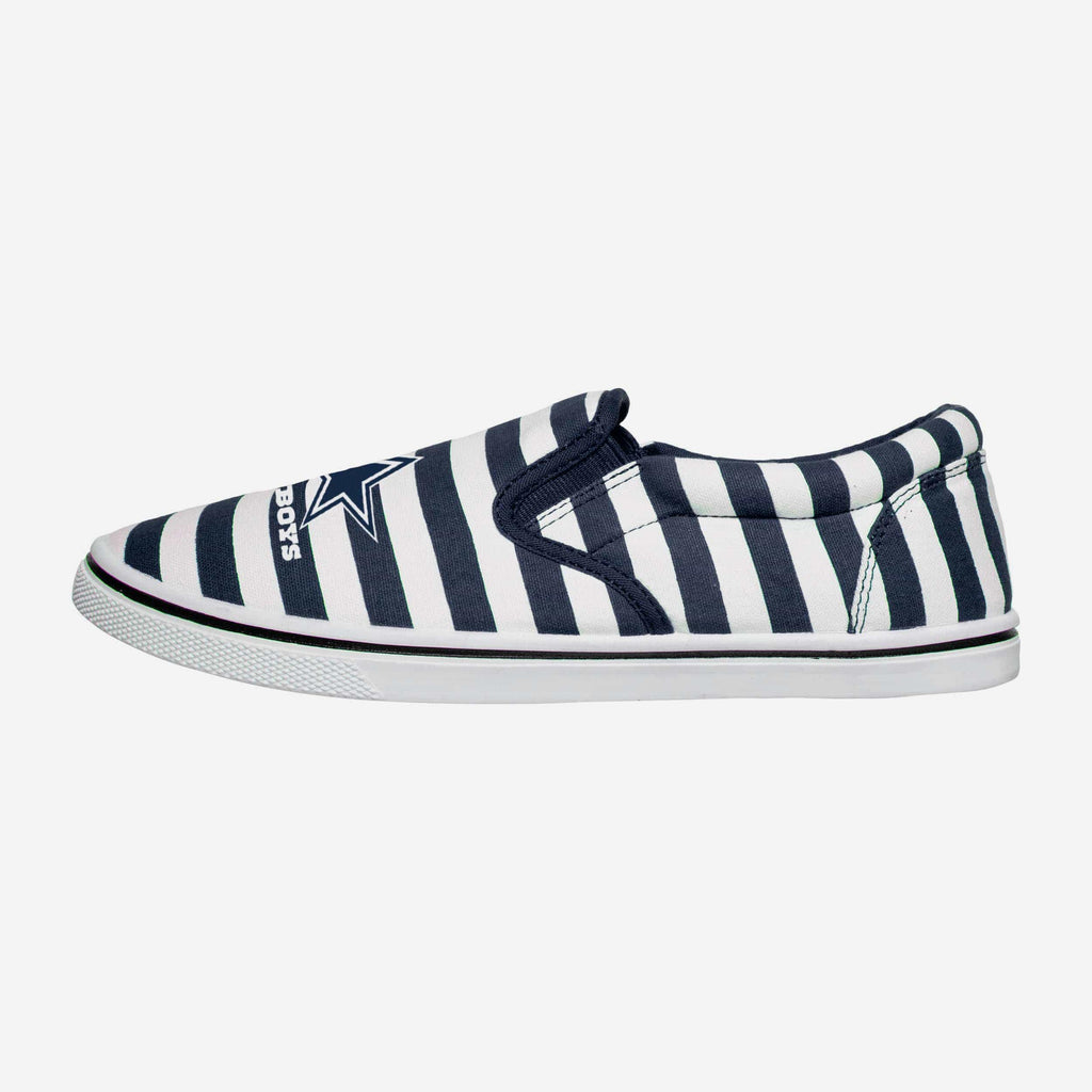 Dallas Cowboys Striped Slip On Canvas Shoe