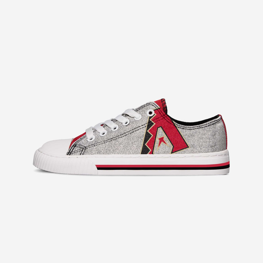Arizona Diamondbacks Womens Glitter Low Top Canvas Shoe FOCO - FOCO.com