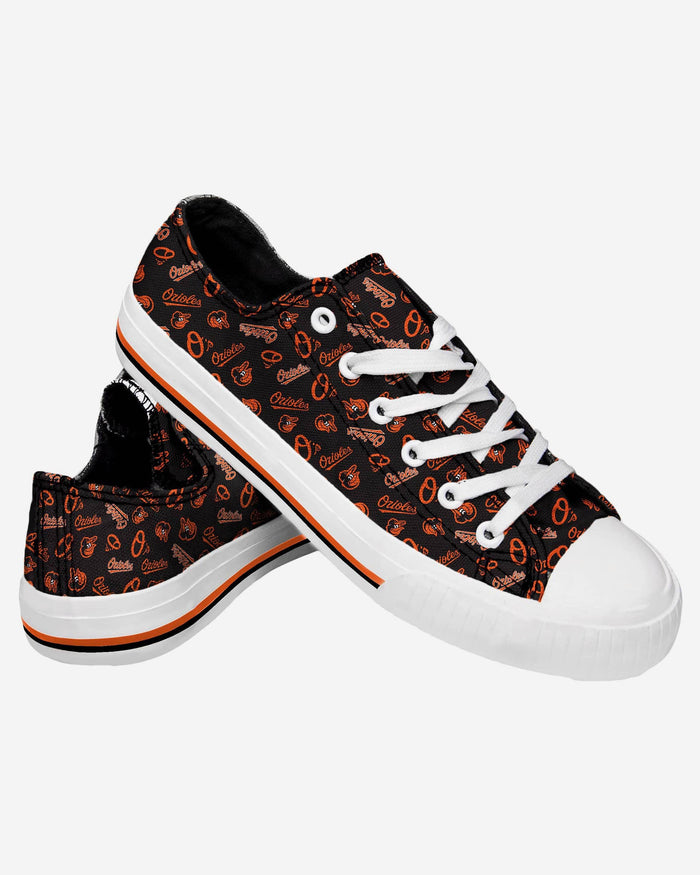 Baltimore Orioles Womens Low Top Repeat Print Canvas Shoe FOCO - FOCO.com