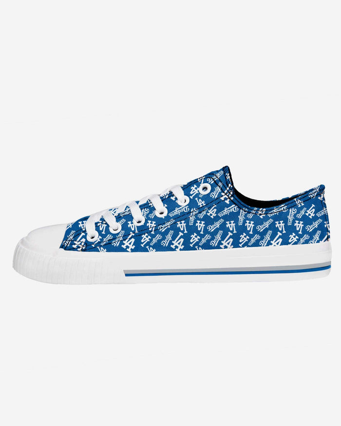Los Angeles Dodgers Womens Low Top Repeat Print Canvas Shoe FOCO - FOCO.com