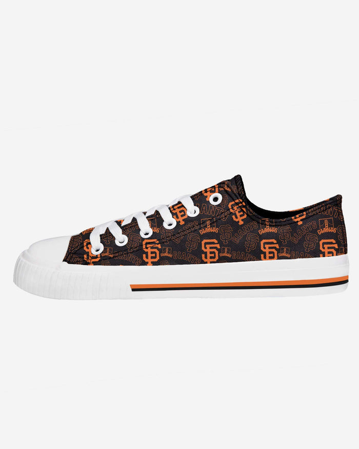San Francisco Giants Womens Low Top Repeat Print Canvas Shoe FOCO - FOCO.com