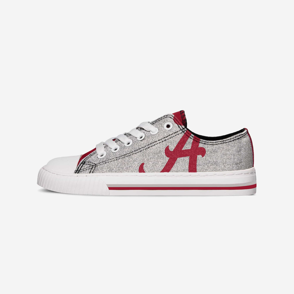 Alabama Crimson Tide Womens Glitter Low Top Canvas Shoe FOCO - FOCO.com